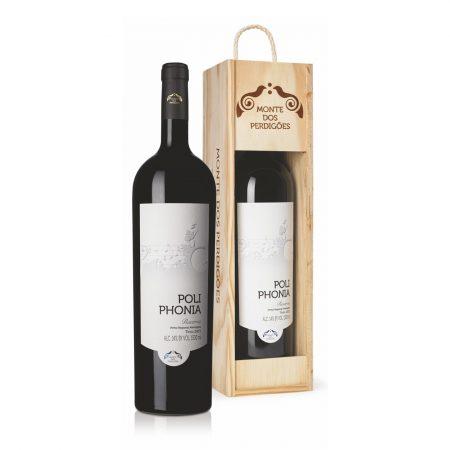 Monte dos Perdigões, Vinho Tinto Reserva Poliphonia, Alentejo, Garrafa Magnum de 1.5L com Caixa de Madeira.